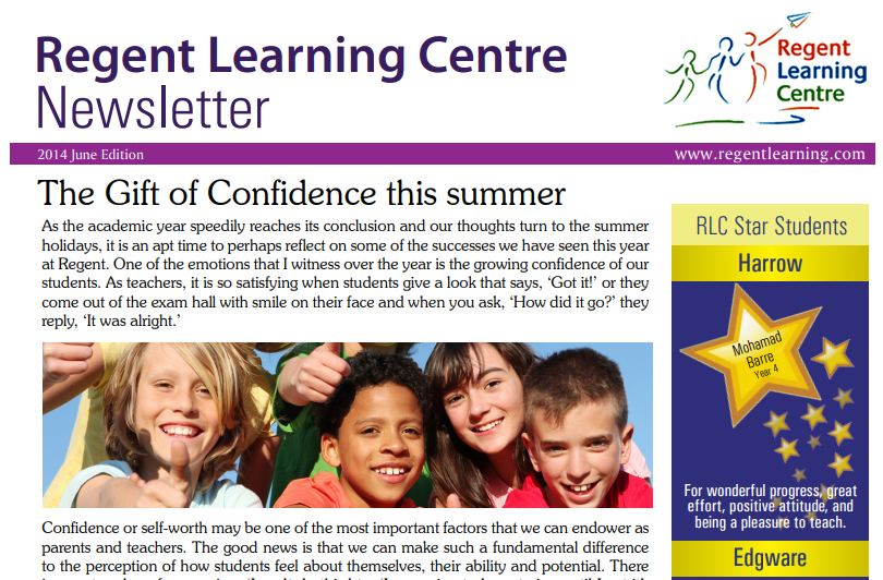 RLC June newsletter 2014