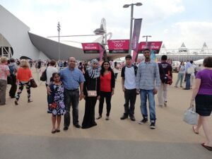 Visit to Olympic Water-Polo